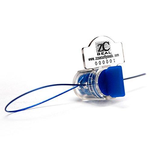 ZhengCheng (R) High Electric Security Twist Sellos de plástico con cables de cobre (paquete de 1000 piezas)