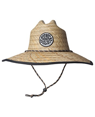 (Rip Curl Men's Paradise Straw Lifeguard Sun Hat Natural (NAT) One Size)