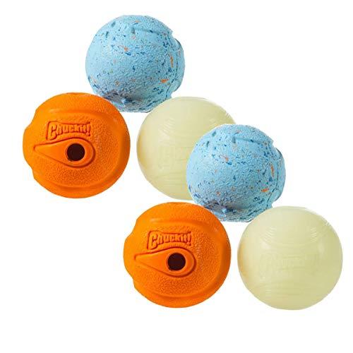 Chuckit! Fetch Medley Balls Medium, 2.5-Inch, 6-Pack (Medley Balls Fetch)
