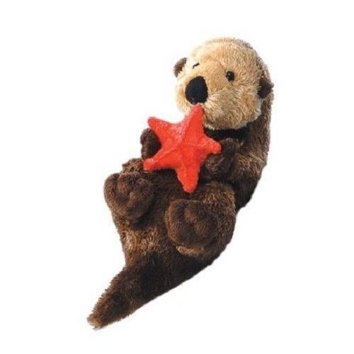 amazon com aurora plush otto sea otter mini flopsie 8 toys games