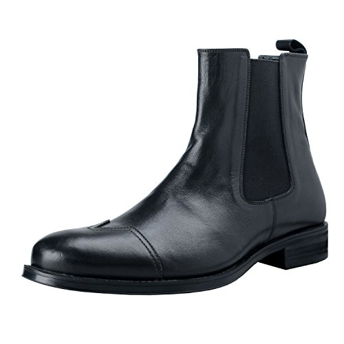 Versace-Collection-Mens-Black-Leather-Ankle-Chelsea-Boots-Shoes-US-11-IT-44