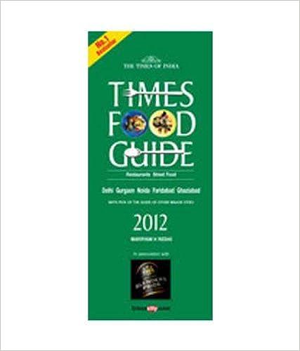 TIMES FOOD & NIGHTLIFE GUIDE DELHI -2012