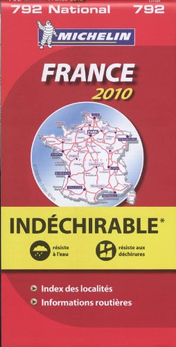 France widerstandsfähig 2010 (Michelin Nationalkarte)