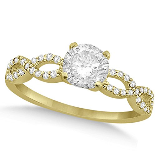 Women's Preset Twisted Infinity Diamond Engagement Ring 18k Yellow Gold (1.00ct) ()
