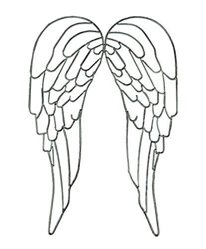(Distinctive Designs Metal Wire Art Angel Wings Wall Sculpture 25 inch )