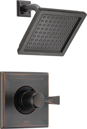 Function Shower Set - Delta T14251-RB Dryden 14 Series Single-Function Shower Trim Kit with Single-Spray Touch Clean Shower Head, Venetian Bronze (Valve Not Included)