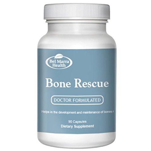 Bel Marra Health Bone Rescue Supplement – Magnesium, Strontium, Vitamin B12, B6, D, C, K2, Quercetin Antioxidant – Promotes Bone Health – 270 Capsules