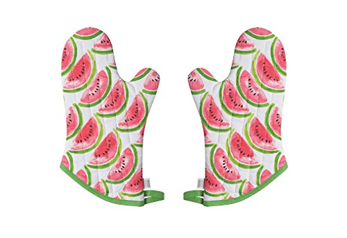 Now Designs Basic Oven Mitt, Set of Two, Watermelon