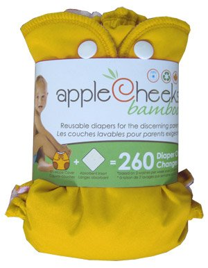 AppleCheeks Little Bundle Set Bamboo (Size 1, Lemon Zest)