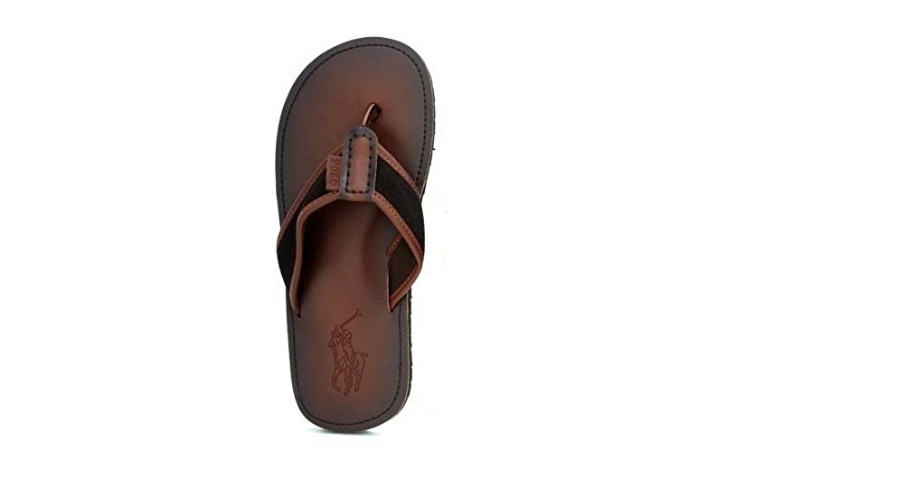3f6da8deff377c Polo Ralph Lauren Sullivan Leather Flip Flops Sandals Beach Brown 9  Amazon.co.uk   Shoes   Bags