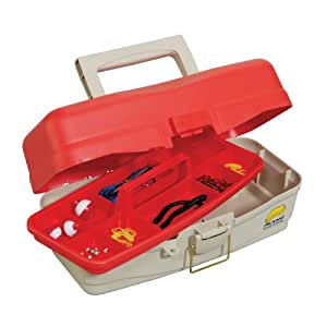 """Plano One Tray """"Take Me Fishing"""" Tackle Box with Tackle"""