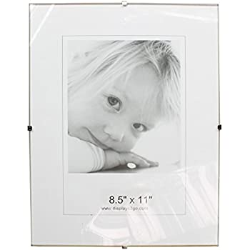 Amazon.com - Framatic Frameless Glass Clip Picture Frame for a 11x14 ...