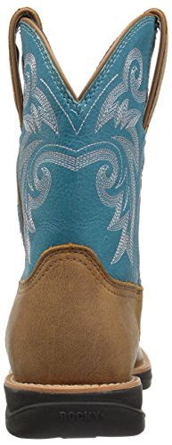 Turquoise Brown Boot Western Rocky RKW0219 Women's vO6YwqZ