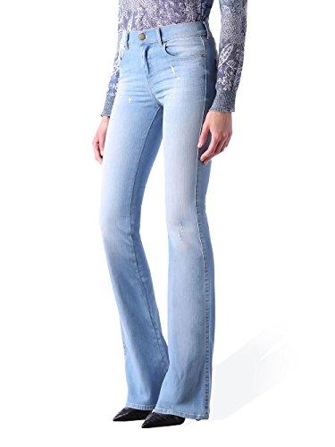 Bootcut Sandy Slim B 0673F pour Pantalons lastique Jeans Bleu Diesel femme 6wSqzd8