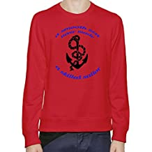 A Smooth Sea Never Made A Skilled Sailor Slogan Sweater-Jumper For Men & Women| Custom -Printed T-Shirt| Soft Cotton & Polyester Blend| Premium Quality DTG Printing| Customizable Unisex Clothing By Byronz Clothing XX-Large