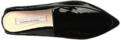 Capri Cavallari Patent Women's Black Black Flat Chinese Toe Kristin Laundry Pointed 7nBqOI