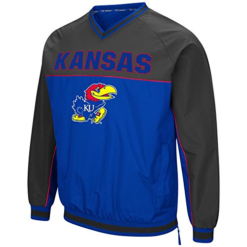 Kansas Jayhawks KU Windbreaker Jacket Coach Klein Pullover (Large)
