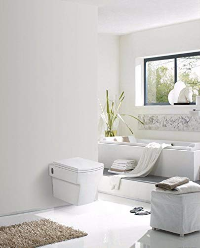 VeeBath Riva Square Wall Hung WC pan White with Soft Close Seat Contemporary Design. Short Projection.