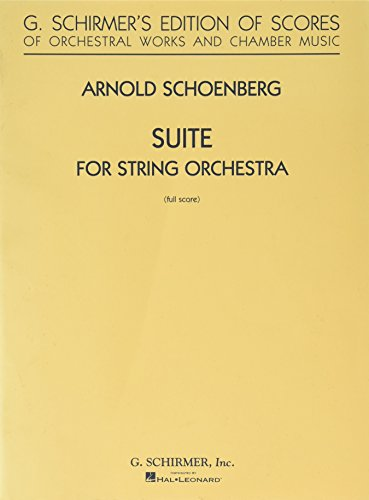 Suite in G for String Orchestra: Full Score by G. Schirmer
