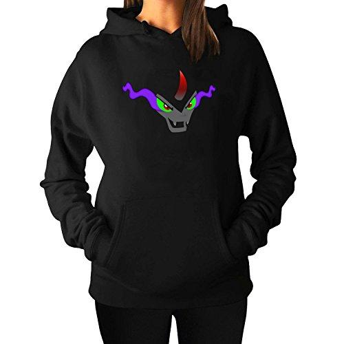 Woman's Sombra LogoPullover Hoodie Sweatshirts XL Black -