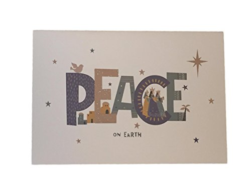 Holiday Boxed Christmas Cards Set of 28 - Variety to Choose From (Peace On - Peace Christmas Boxed Cards