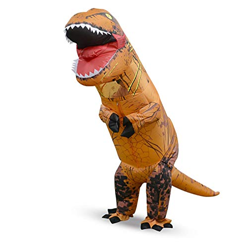 Fairy-Margot Children Inflatable Costume Dinosaur Blow Up Costume Suit for Halloween Cosplay Fancy Dress Suitable for Party or Outdoor,Dark Khaki]()