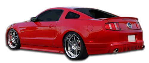 Extreme Dimensions Duraflex Replacement for 2010-2012 Ford Mustang V6 Racer Rear Lip Under Spoiler Air Dam - 1 - Mustang Ford V6 Racer