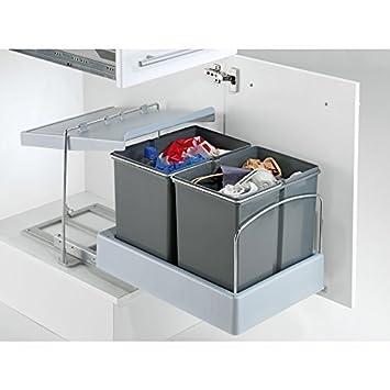 Wesco Automatik Masterboy Mülleimer Küche 2x 15 Liter H 38cm ...