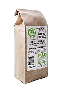 Tiny Footprint Coffee Organic Light Roast Ground Coffee, 16-Ounce Bags (Pack of 2)