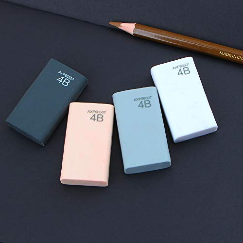 KIMME 4Pcs/Lot 4b eraser pencil eraser student stationery school office supplies by KIMME (Image #4)