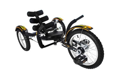Mobo Mobito - The Ultimate Three Wheeled Cruiser (Black)