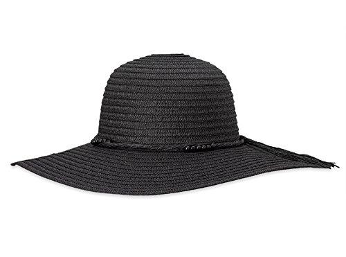 961518eab18074 Debra Weitzner Beach Straw Floppy Hat for Women Wide Brim - Sun Protection  - Packable Foldable