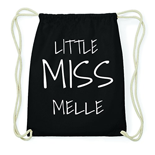 JOllify MELLE Hipster Turnbeutel Tasche Rucksack aus Baumwolle - Farbe: schwarz Design: Little Miss xQa0qjtT