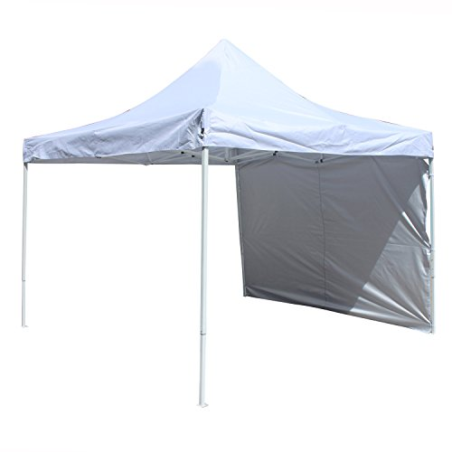 ALEKO GZPW204WH Easy Popup Outdoor Collapsible Gazebo Canopy Tent with Removable Wall Panel 10 x 10 Feet White