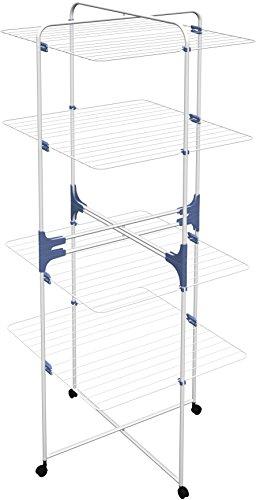 Gimi Linear 2+2 Turm-Wäscheständer aus Stahl, 44 m Trockenlänge