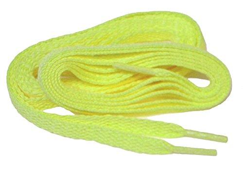 Greatlaces Proathletic (tm) Chuck Taylor Style 8mm Flat Sneaker Lacci Lacci Delle Scarpe Shoestrings - (confezione Da 2 Paia) Giallo Neon