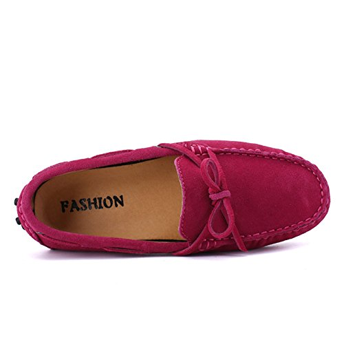 Go Tour Mens Fashion Dress Casual Leather Flats Driving Moccasin Loafer Shoes Women-rose xj0Kdh8vem