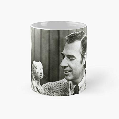 Mr Rogers and Daniel Tiger - Mister Rogers Neighborhood Mug, daniel striped tiger Cup, Perfect Novelty Gift Mug, Funny Gift Mugs, Funny Coffee Mug 11oz, Tea Cups -
