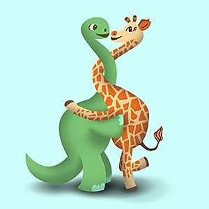 Amazon Com Quot Dino Giraffe Luv Hug Quot Dinosaur Amp Giraffe Cute