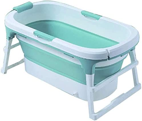 ポータブルバスタブドレインバスバレルフルボディ世帯の子供プラスチックスパお風呂バケツで大人のための (Color : Green)