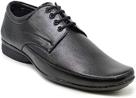 Rely Mens Black Laceup Derby Office Shoes