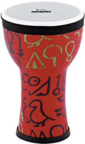 Nino Percussion Kids' Djembe, 100% Synthetic Pre-Tuned, Compact Size - NOT MADE IN CHINA - Pharaoh's Script Finish, for Classroom Music or Playing at Home, 2-YEAR WARRANTY, inch -
