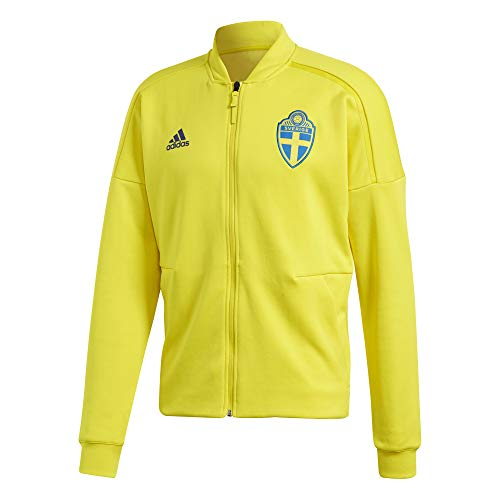 adidas Sweden FC ZNE Knit Jacket - Adult - Yellow - Large