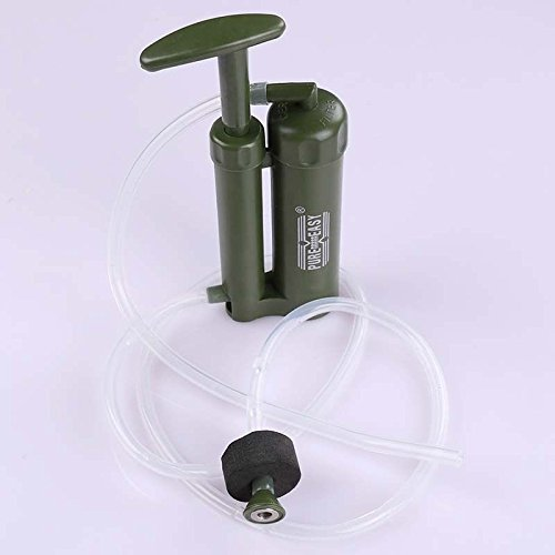 MIJORA-Portable Soldier Water Filter Purifier for Hiking Camping Fishing Outdoors Trip