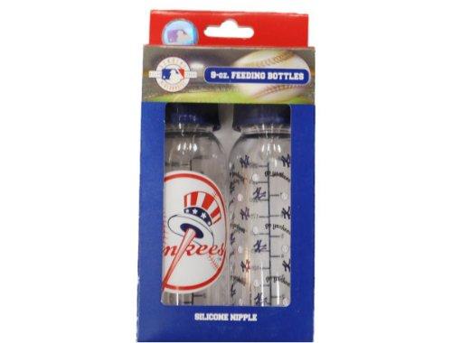 New York Yankees MLB Twin Pack 9 oz. Blue Baby Feeding Bottle
