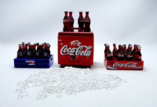 coke-pepsi-coca-cola-dollhouse-miniature-vintage-bottles-crate-collection-set-mt-1450-by-gift-for-yo