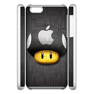 iphone5c 3D Cell Phone Case White Super Mario Bros Plastic Durable Cover Cases derf6997803