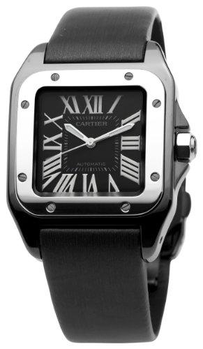 Cartier Men's W2020008 Santos 100 Medium Watch - Jewelry Springs
