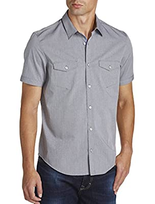 Calvin Klein Sport Mini Diamond Dobby Sport Shirt Iron Gate