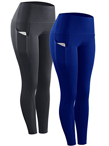 4fa2469fdd8 Neleus 2 Pack Tummy Control High Waist Running Workout Leggings